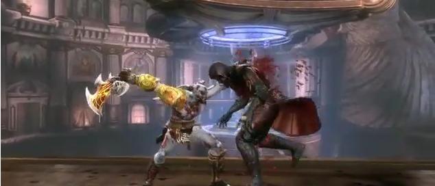 Brutal vídeo ingame de Kratos masacrando al personal en Mortal