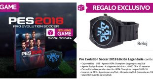 GAME nos trae esta Edición Legendaria de Pro Evolution Soccer 2018