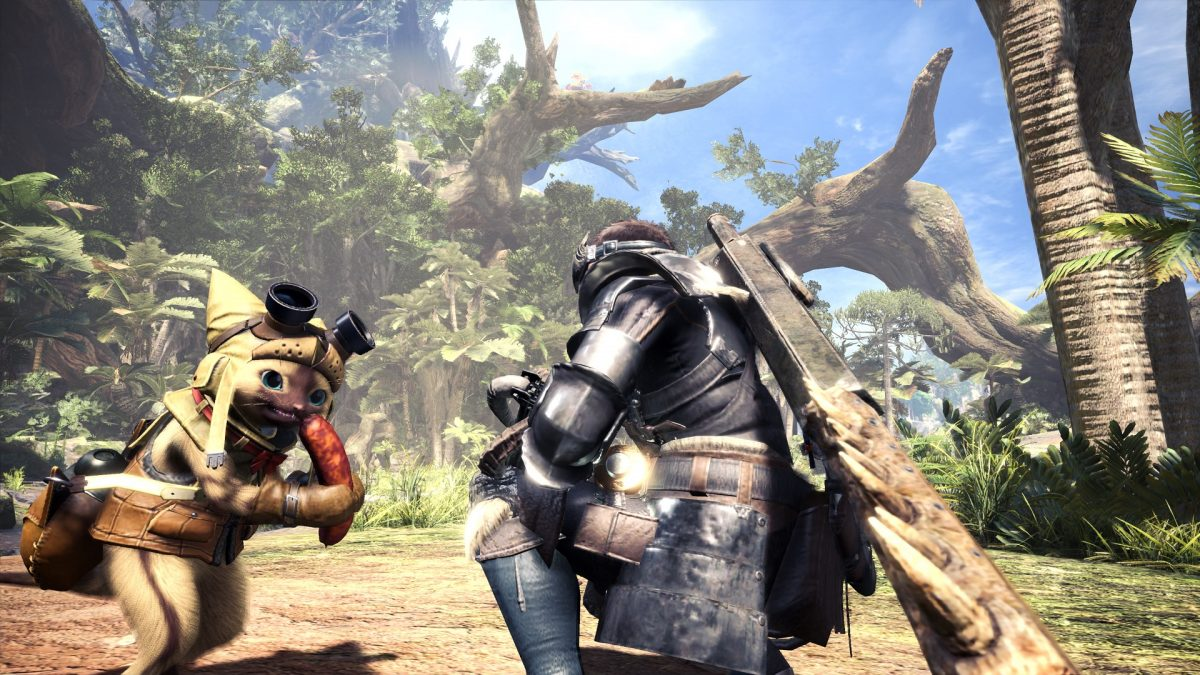 Monster hunter World Wildlands_Waste_Screen_012_Palico_GamesCom_1502985005