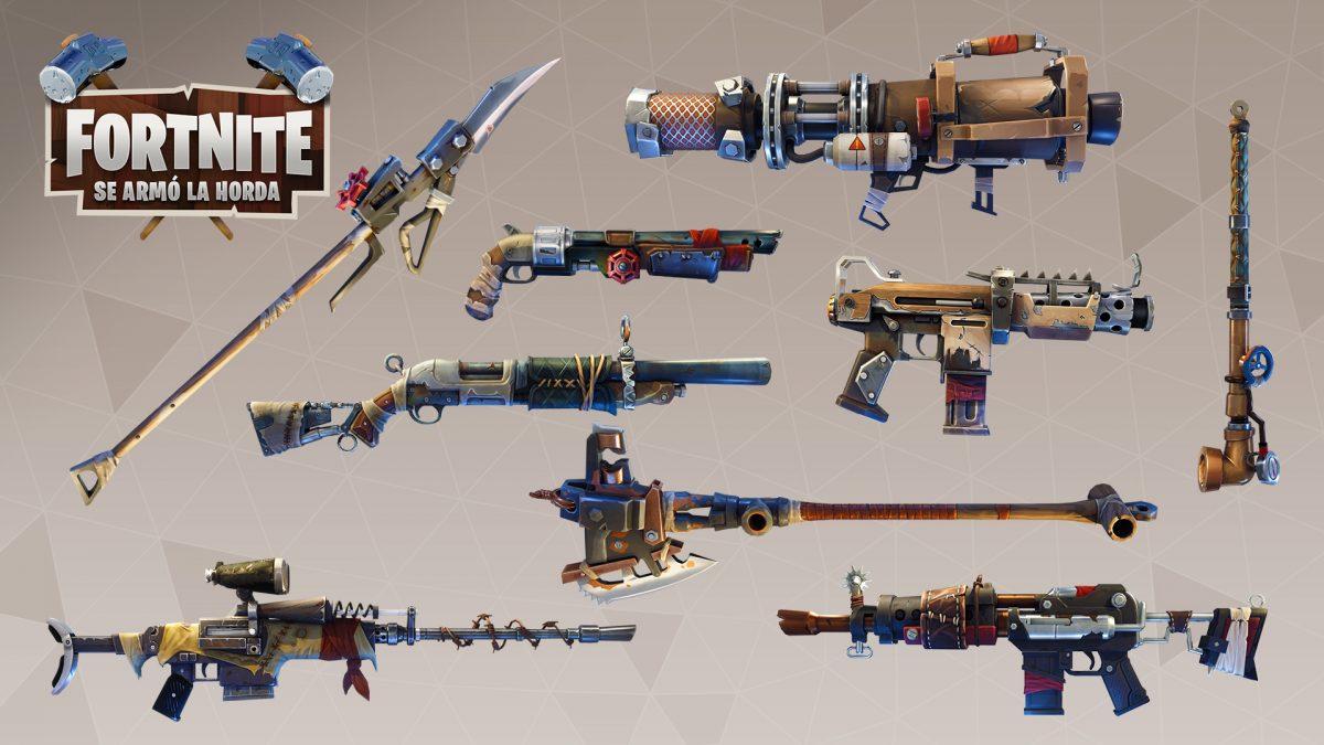 Fortnite Se Armó la horda contenido 1_7 Armas