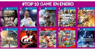 Los juegos más vendidos en GAME en el mes de enero