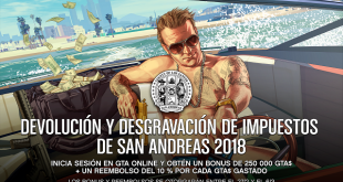 La Devolución y Desgravación de Impuestos de 2018 llega a Grand Theft Auto Online