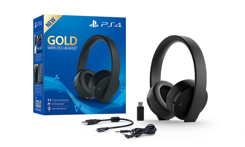 Playstation 4 Gold Wireless Headset 001