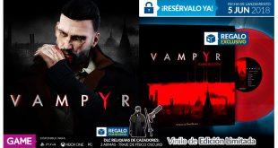 GAME anuncia el obsequio con el que premiará las reservas de Vampyr
