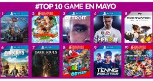 Lo más videojuegos vendidos de mayo en GAME