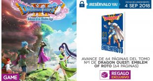 Incentivos de reserva de Dragon Quest XI en GAME