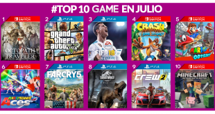 Lo más vendidos del mes de julio en GAME