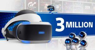 Playstation VR alcanza la cifra de 3 millones de dispositivos vendidos