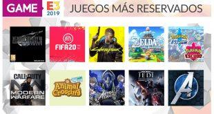 Estos son los juegos más reservados en GAME del E3 2019