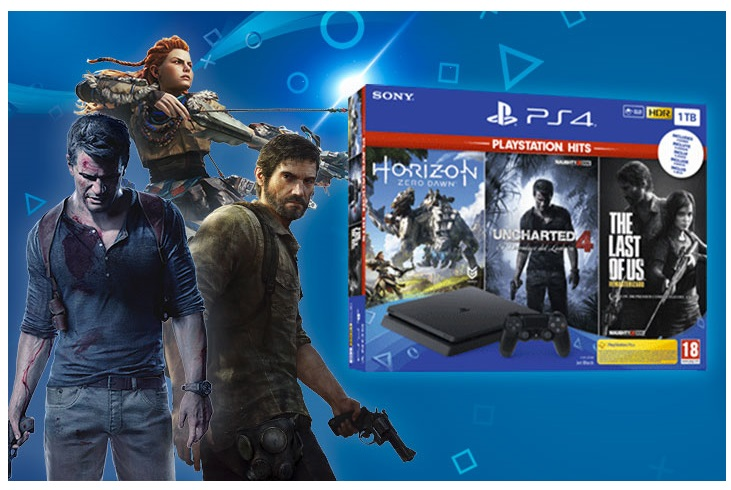 GAME MEGA PACK PS4 Slim 1TB 3 PS HITS