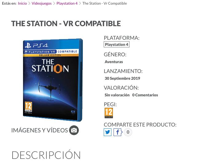 The Station llegará en Septiembre a PSVR