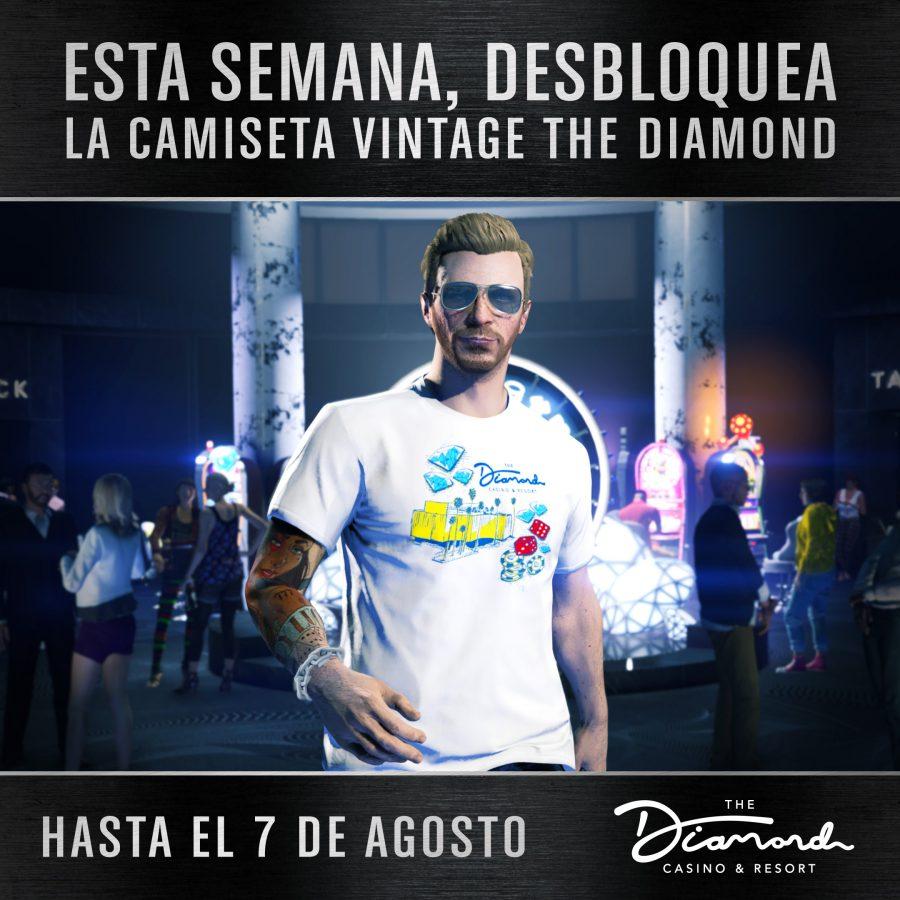 GTA Online GTA V Camiseta Vintage the Diamond