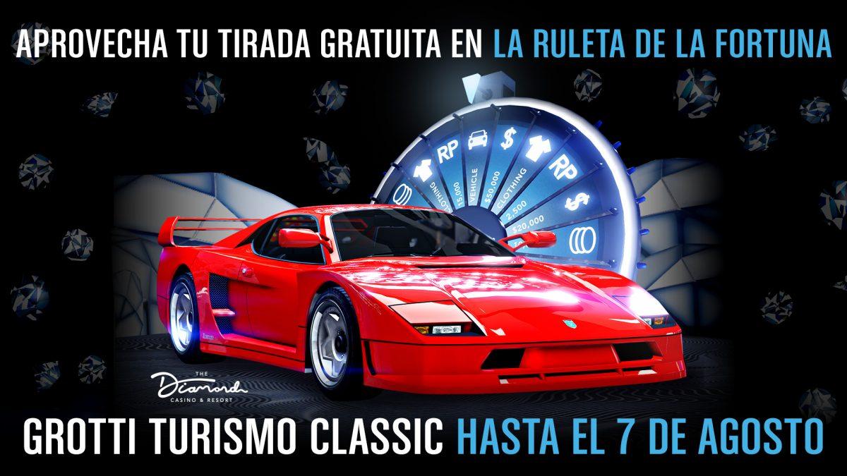 GTA Online GTA V Grotti Turismo ruleta de la fortuna