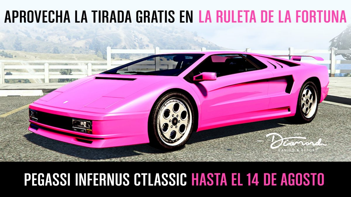 GTa Online GTA V Pegassi Infernus Classic ruleta