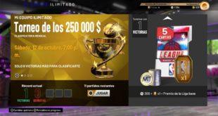Torneo del modo Ilimitado de MiEQUIPO de NBA 2K20
