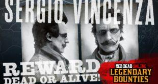 Red Dead Online cuenta con un nuevo foragido legendario, Sergio Vincenza