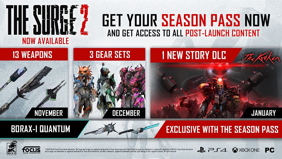The Surge 2 -SeasonPass-Roadmap
