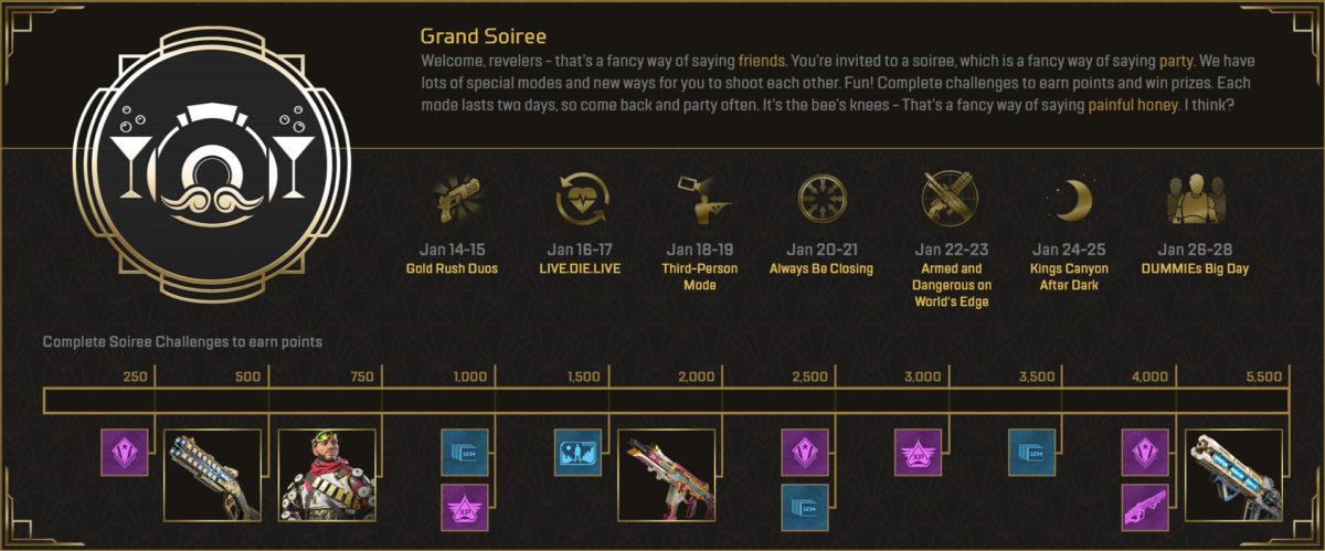 Apex Legends Grand Soiree event desafios