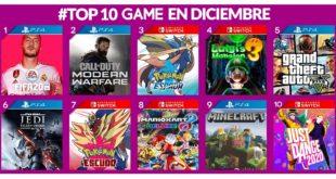 TOP 10 Videojuegos más vendidos en GAME Diciembre 2019