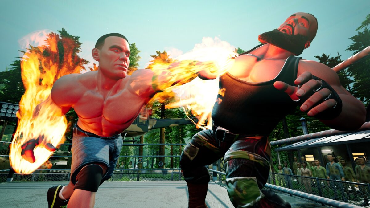 WWE 2K Battlegrounds John Cena vs Braun Strowman