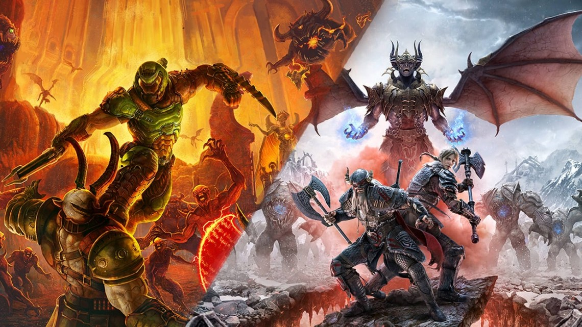 Doom Eternal The Elder Scrolls Online Bethesda main theme anuncio playstation 5 xbox series x