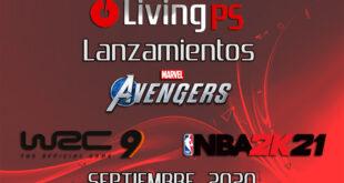 Lanzamientos destacados septiembre 2020