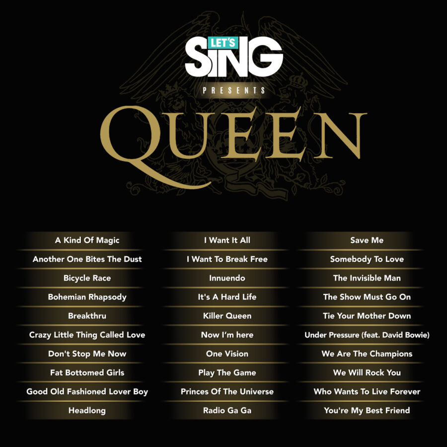 Let's sing presents queen track list