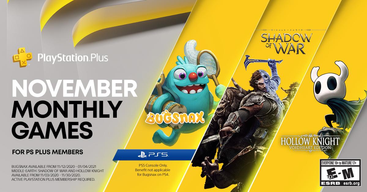 Playstation Plus Noviembre 2020