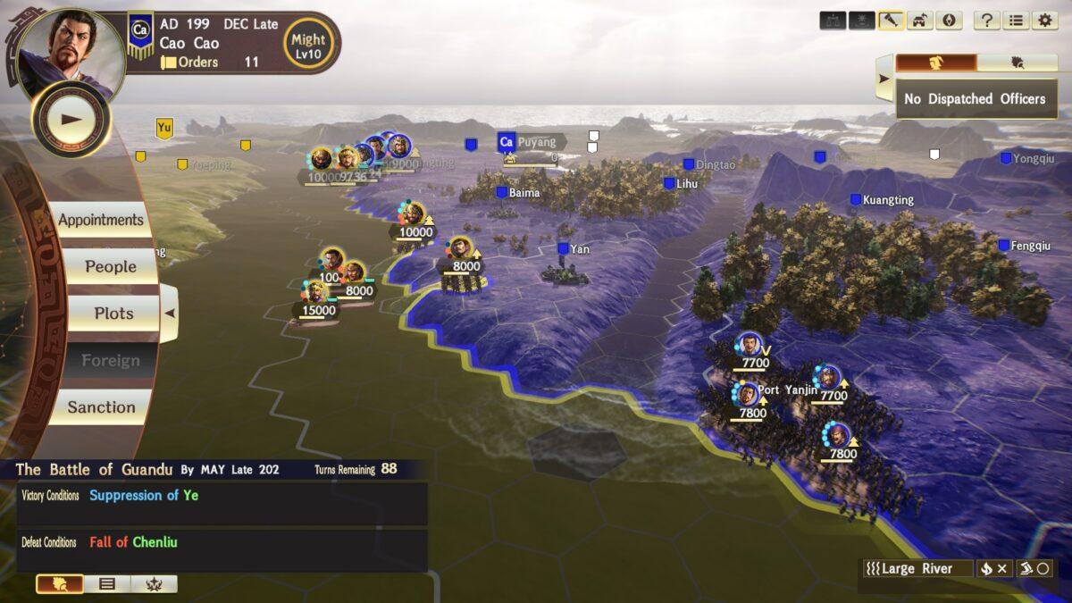 Romance of The Three Kingdoms XIV the_battle_of_Guandu